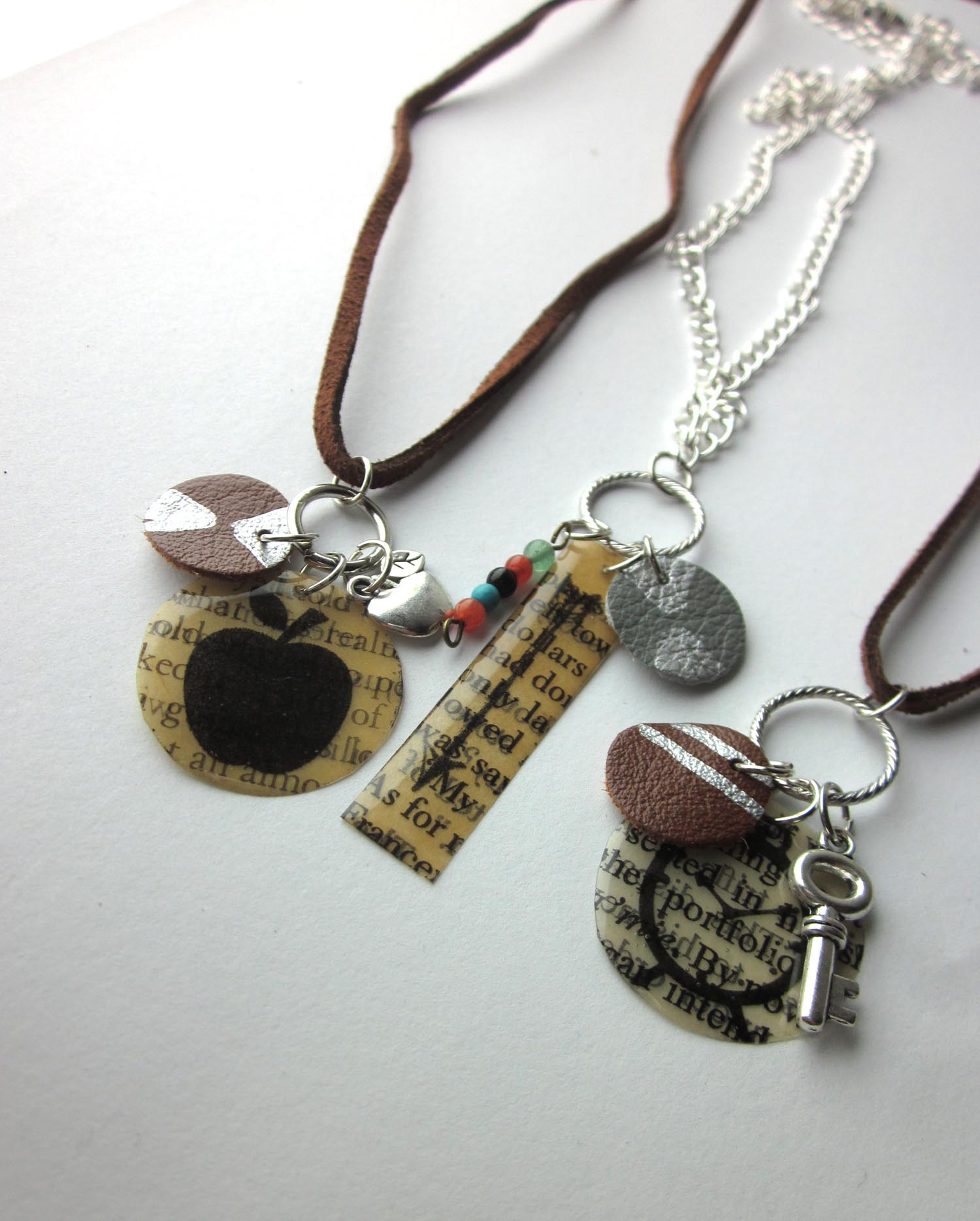 Literary Book Page Necklaces